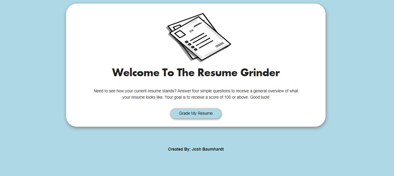 The Resume Grinder